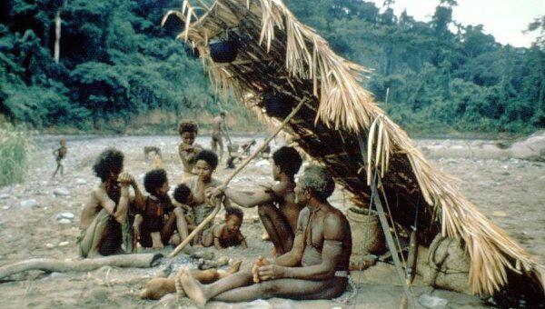 Лагерь охотников и собирателей народности агта на Филиппинах.