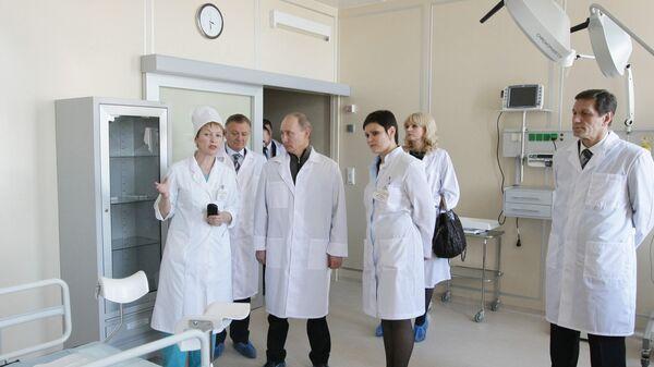 Премьер-министр РФ Владимир Путин посещает ГУЗ Перинатальный центр Рязанской области.