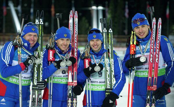 Иван Черезов, Максим Максимов, Евгений Устюгов, Антон Шипулин (слева направо)