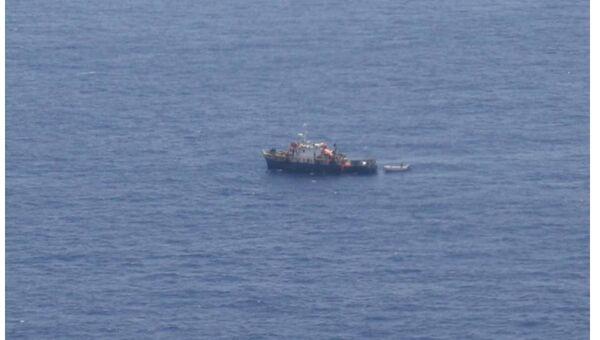 Судно с пиратами на борту. Архивное фото