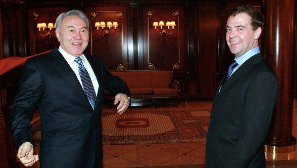 Встреча президентов РФ и Казахстана Дмитрия Медведева и Нурсултана Назарбаева