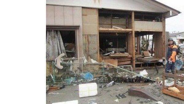 Последствия землетрясения в японском городе Сендай