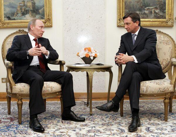 Беседа В.Путина с председателем правительства Республики Словении Б.Пахором