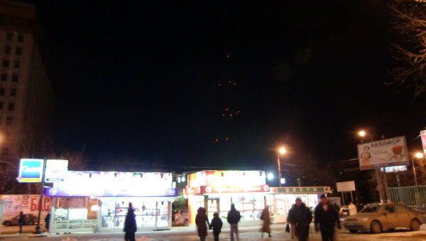 Час Земли в центре Москвы