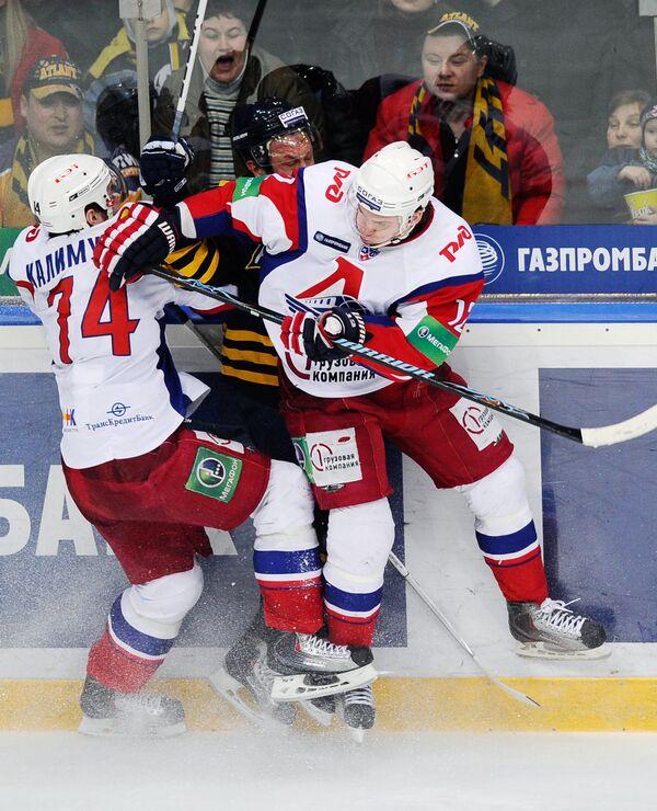 Игровой момент матча Атлант - Локомотив