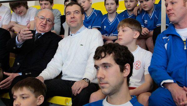 Посещение Дмитрием Медведевым спортивного комплекса Янтарь