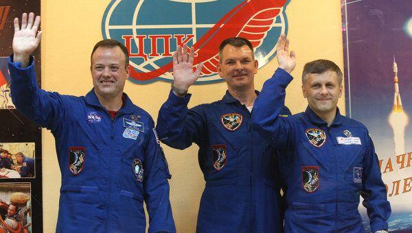 Пресс-конференция экипажа корабля Гагарин