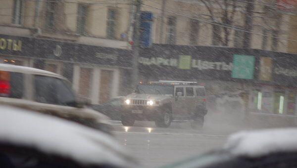 Снегопад в Москве 9 апреля 2011 года