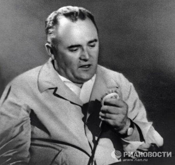 Сергей Королев на космодроме Байконур во время запуска первого космонавта