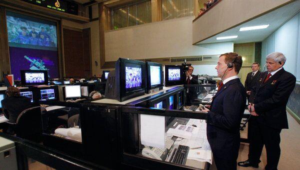 Дмитрий Медведев проводит сеанс телевизионной связи с экипажем МКС