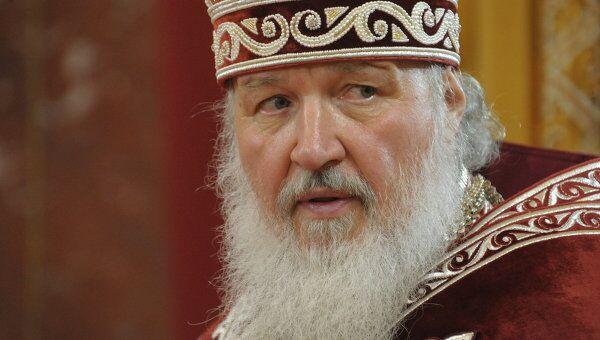 Патриарх Московский и всея Руси Кирилл на праздничном пасхальном богослужении в храме Христа Спасителя