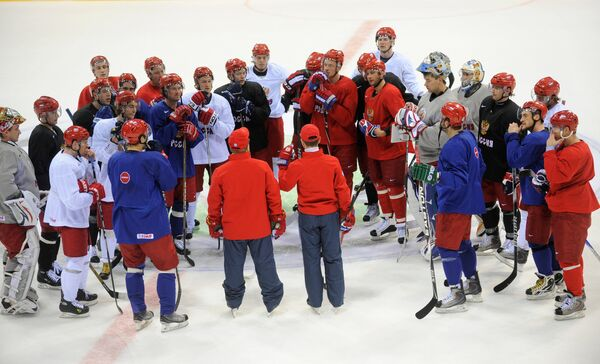 Тренировка сборной России