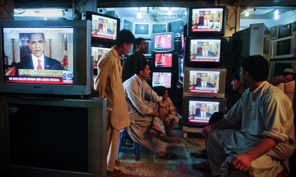 Пакистан, жители узнают о ликвидации Бен Ладена