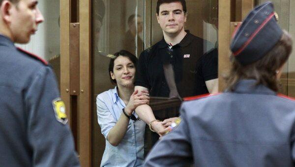 Оглашение приговора Никите Тихонову и Евгении Хасис. Архивное фото