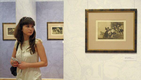 Выставка коллекции графики Франсиско Гойи Сумерки и свет открылась в Музее Современной истории России