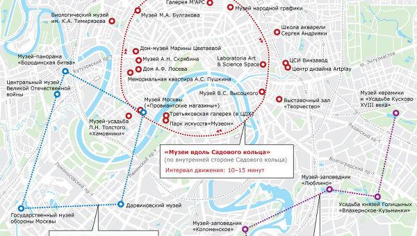 Московская Ночь в музее: бесплатные автобусные маршруты