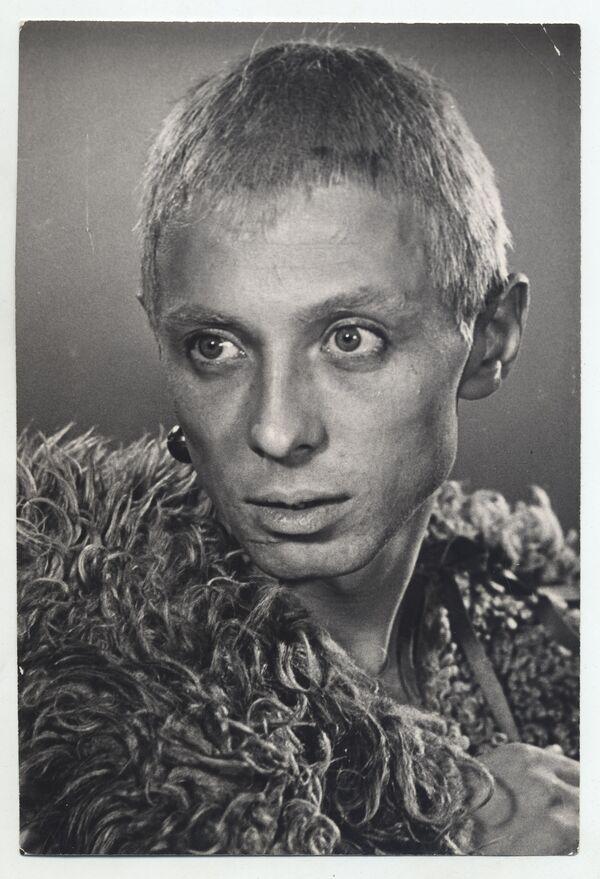 Олег Даль на пробах на роль шута в фильме Король Лир. 1971 год