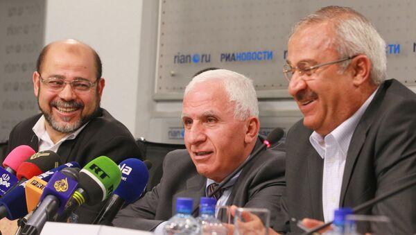 Пресс-конференция представителей палестинских движений. Архивное фото