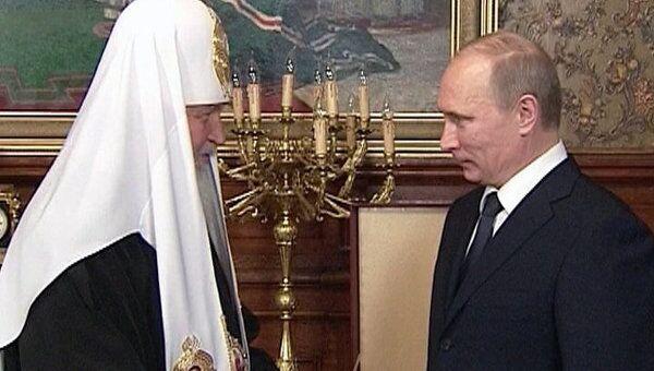 Путин поздравил патриарха Кирилла с двумя праздниками сразу