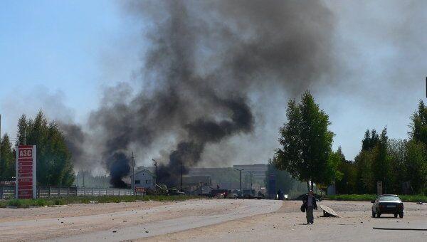 Пожар на АЗС в Костроме