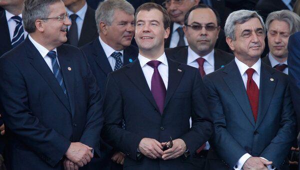 Дмитрий Медведев на торжественном параде в честь 150-летия объединения Италии