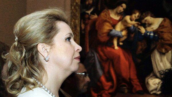 Посещение Светланой Медведевой выставки произведений итальянского живописца эпохи позднего возрождения Лоренцо Лотто