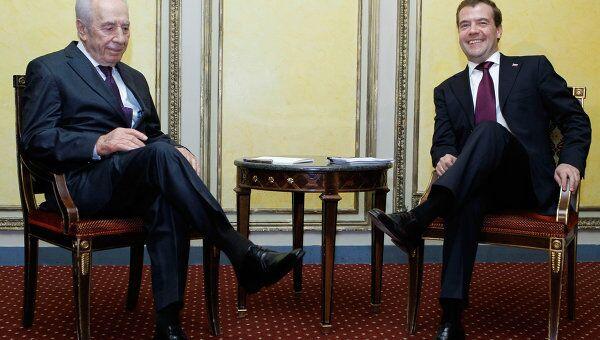 Встреча Дмитрия Медведева и Шимона Переса