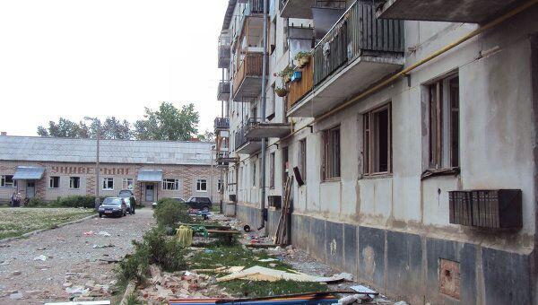 Последствия взрыва на 102-арсенале близ села Пугачево в Удмуртии. Архив