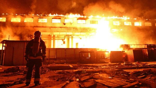 Пожар в общежитии на Востоке Москвы