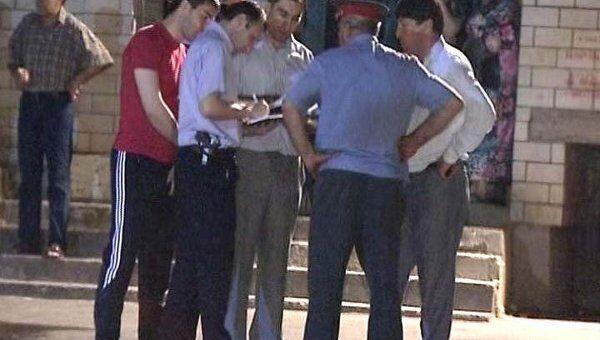Видео с места убийства ректора и его племянника в Махачкале