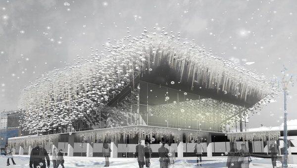 Проект Frozen in time (Застывший во времени) Хуана Андреса Диаса Пары на конкурсе Changing the face (Меняя облик кинотеатра Пушкинский)