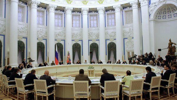 Заседание Совета при президенте РФ по содействию развитию институтов гражданского общества и правам человека. Архив