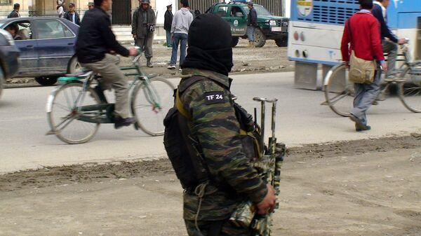 Боец спецназа афганской армии