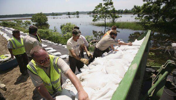 Наводнение на реке Миссури в США