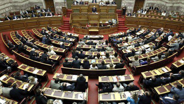 Голосование в парламенте Греции