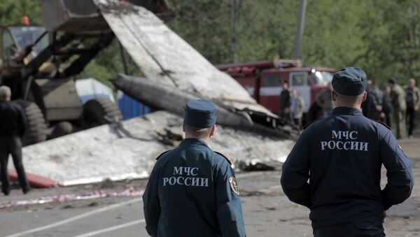 Крушение самолета Ту-134 под Петрозаводском