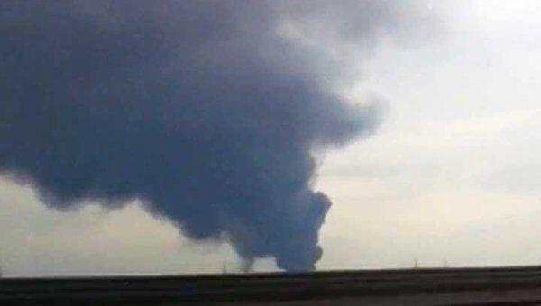 Пожар на полигоне токсических отходов под Петербургом глазами очевидца