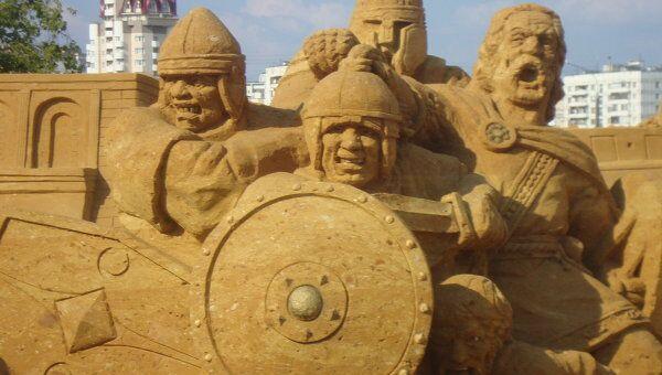 Песчаные скульптуры в Коломенском