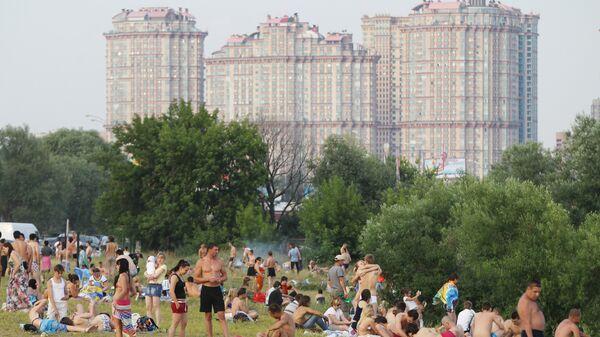 Отдых горожан на пляжах Москвы