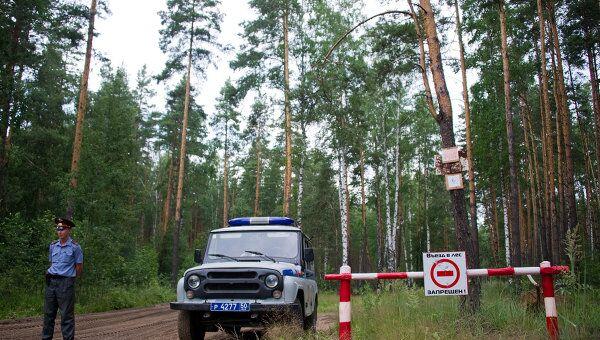 Въезд в лес перекрыт. Архивное фото