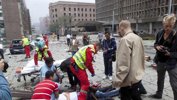 Взрыв прогремел у здания правительства Норвегии