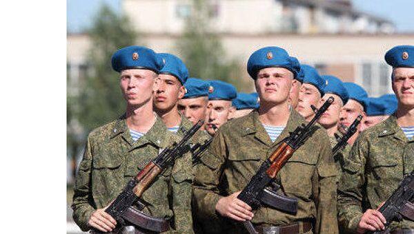 Новобранцы ВДВ Омска приняли присягу на верность