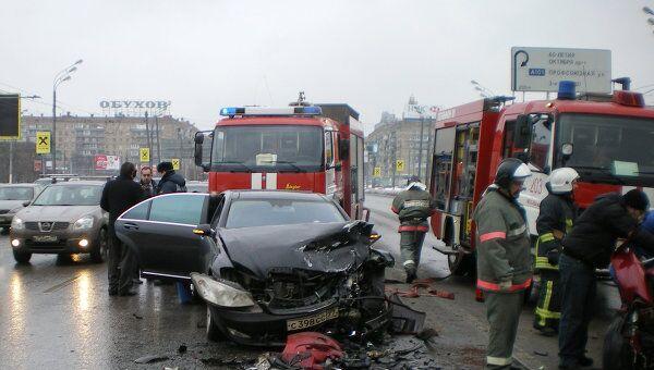 ДТП на Ленинском проспекте с участием машины вице-президента ЛУКОЙЛа Анатолия Баркова, которое произошло 25 февраля 2010 года.