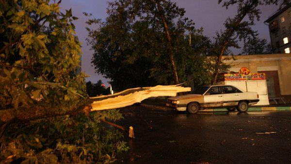 Последствия сильной грозы со шквалистым ветром в Москве
