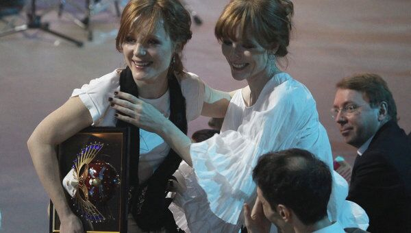 Ксения и Полина Кутеповы на вручении XVI национальной театральной премии Золотая маска
