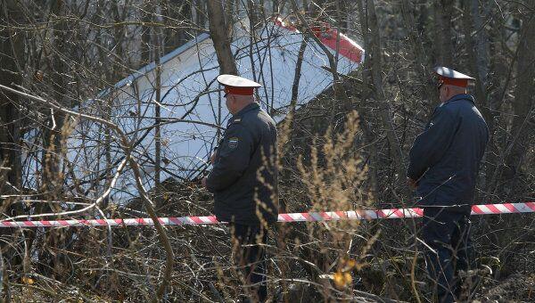 Место падения польского самолета Ту-154 под Смоленском