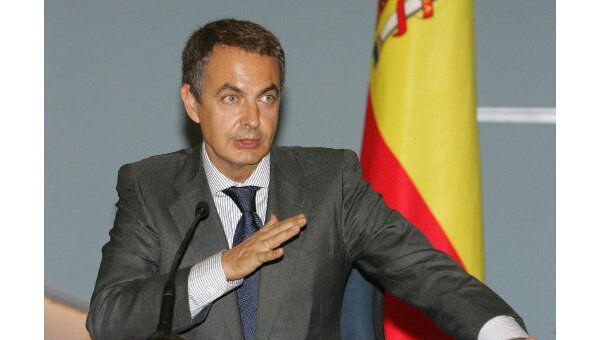 Премьер-министр Испании Хосе Луис Родригес Сапатеро. Архив