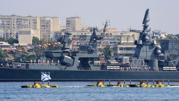 Генеральная репетиция празднования Дня ВМФ России в Севастополе