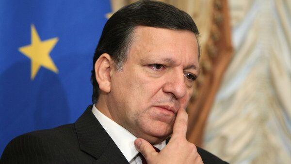 Глава Еврокомиссии Жозе Мануэлом Баррозу. Архив