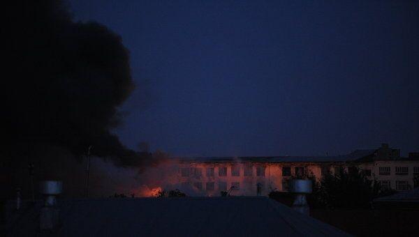 Пожар на территории Микояновского мясокомбината